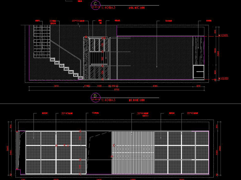 全套中式办公空间CAD施工图高清效果图平面设计图下载 图片24.21图片