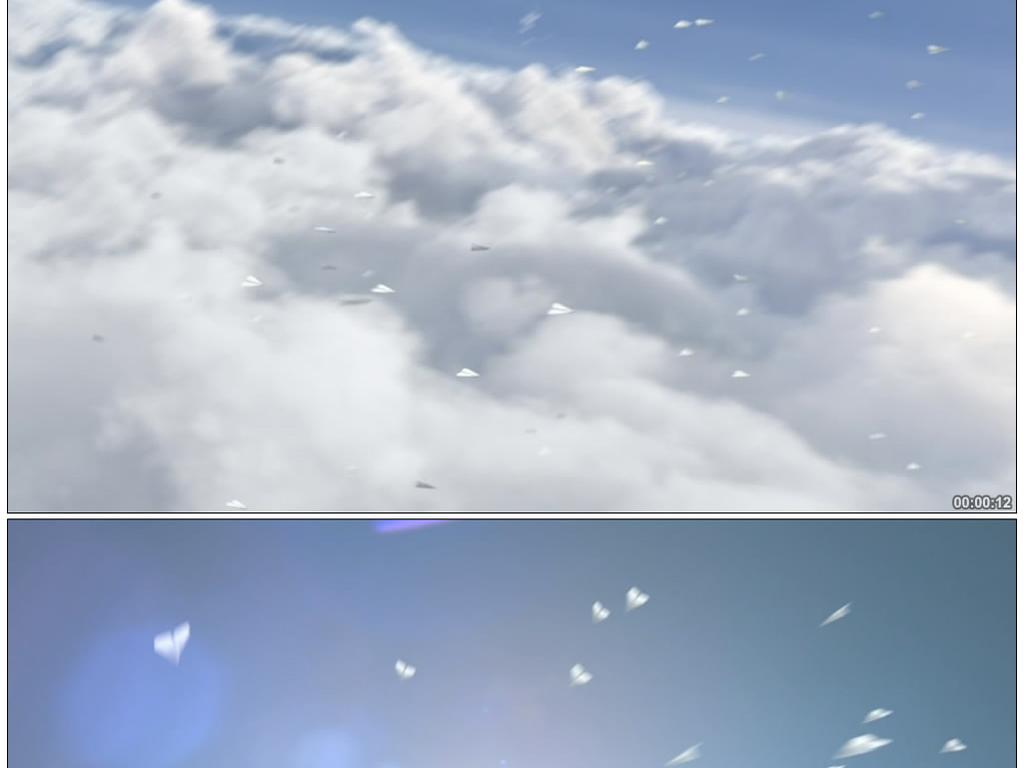 纸飞机高科技虚拟产品宣传视频素材