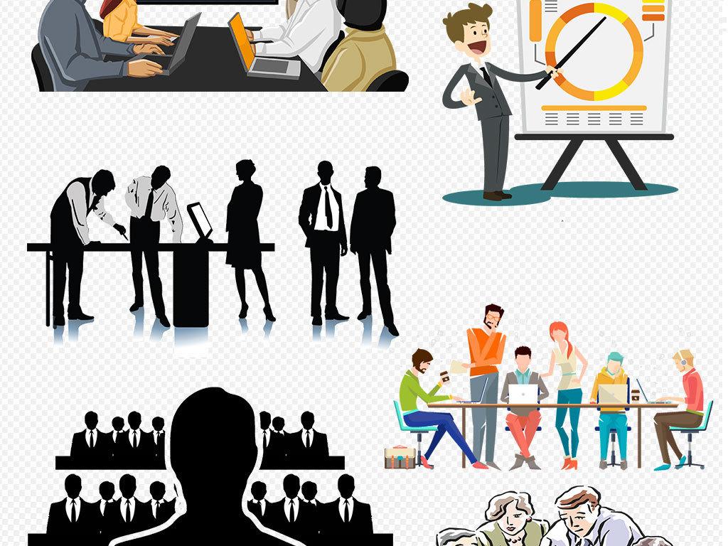 一群人商务素材讨论商务人士矢量图商务人士素材商务人士图片商务人士