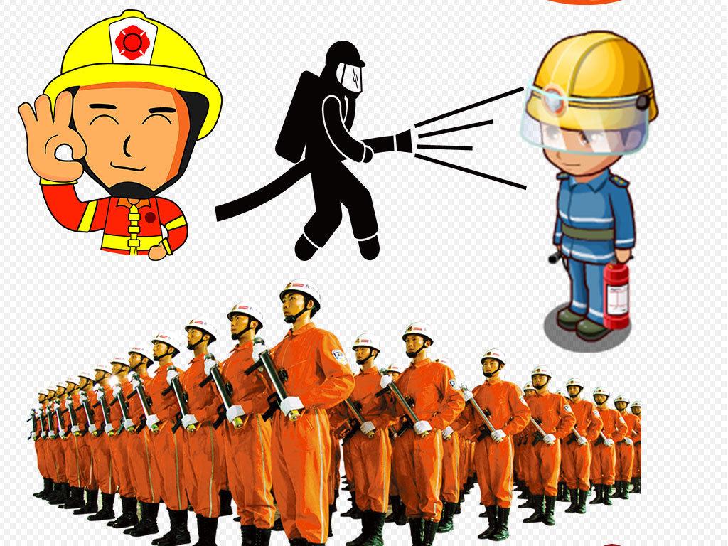 卡通安全标志图手绘图