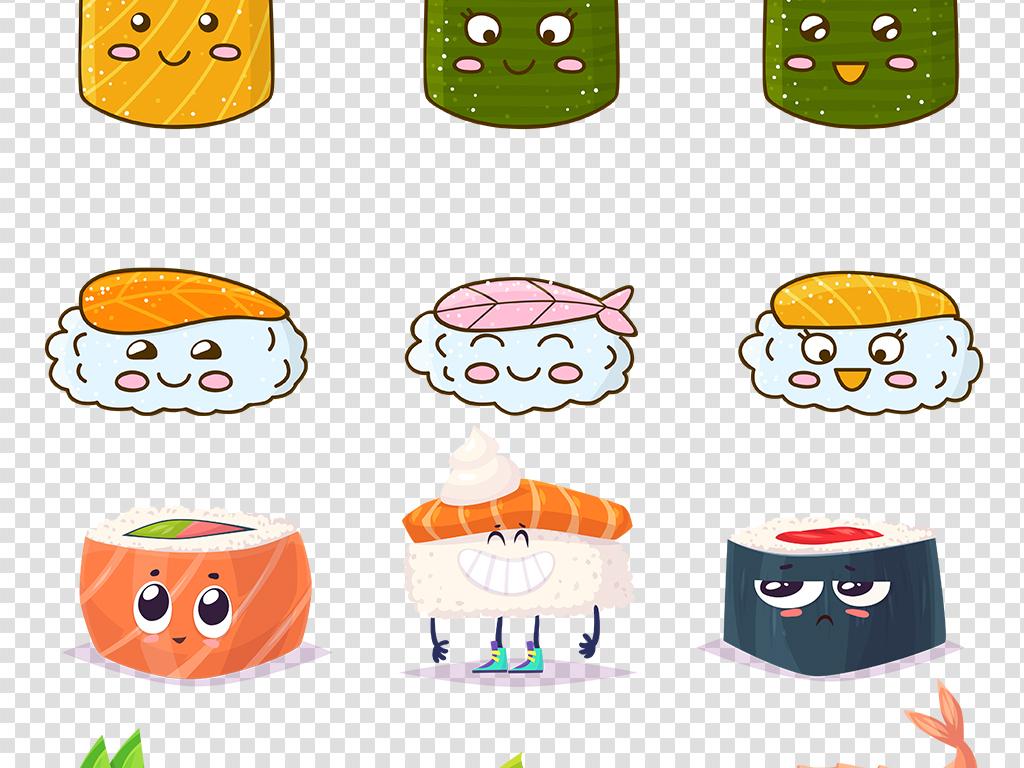 卡通食物日式料理寿司png透明图片素材