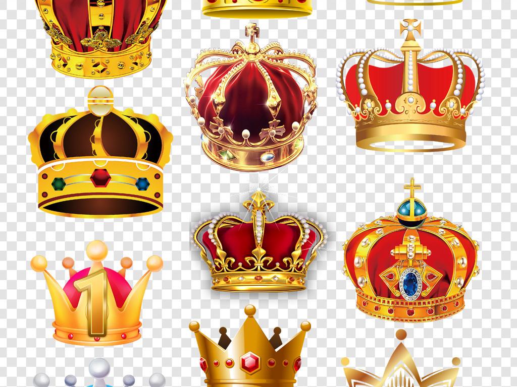 卡通手绘王冠皇冠png免扣素材