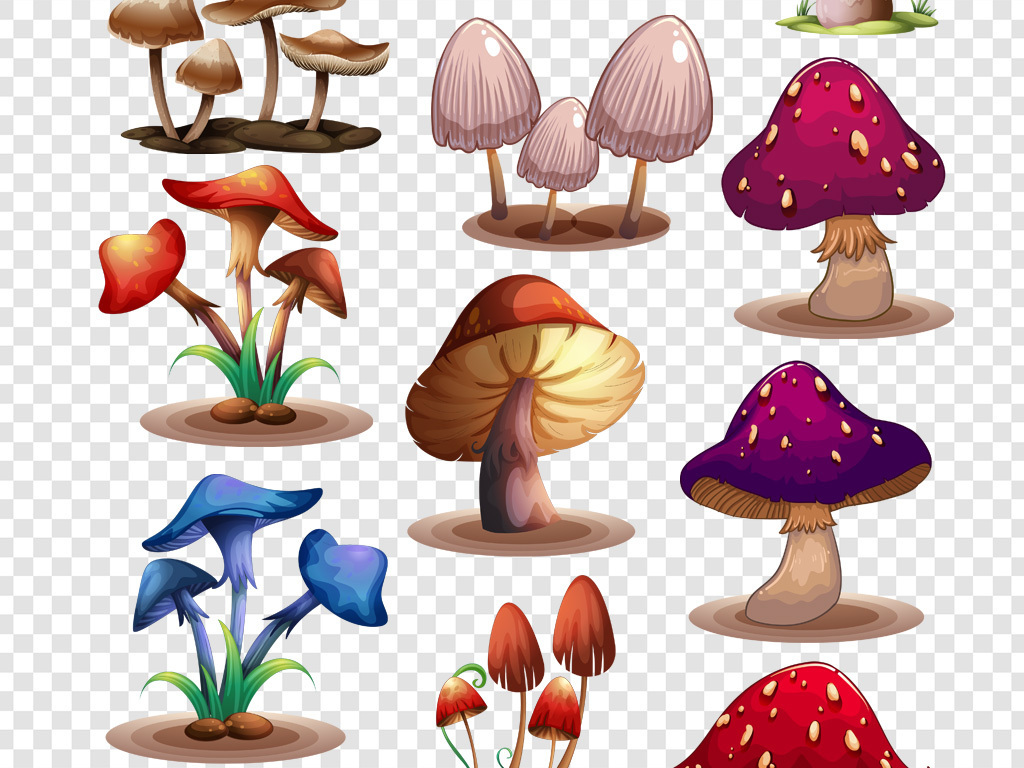 幼儿园                                          蔬菜水果手绘蘑菇