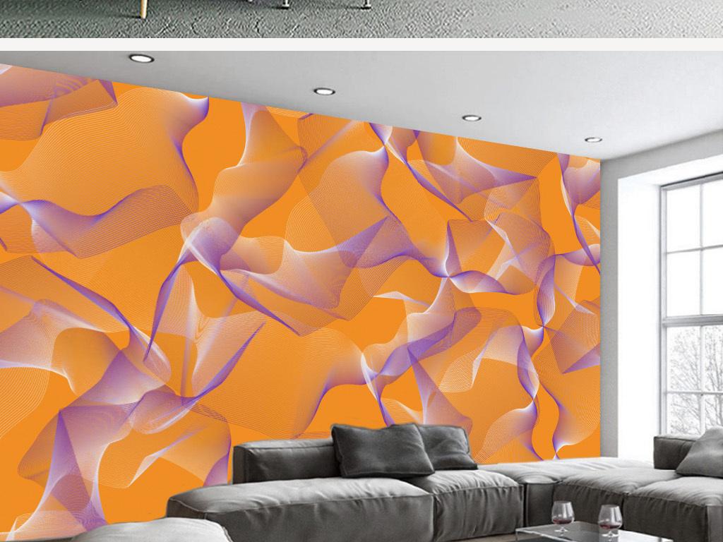 背景墙|装饰画 电视背景墙 手绘电视背景墙 > 北欧现代抽象线条几何
