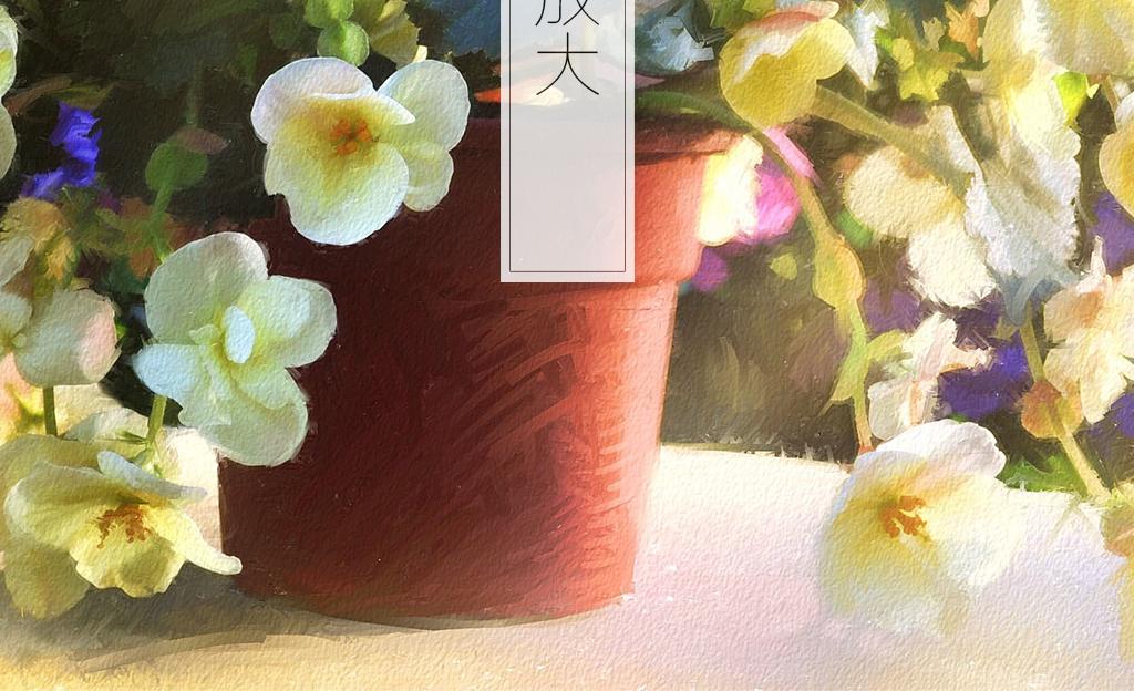 简约小熊小鹿植物花卉手绘背景花卉背景盆景花卉手绘花卉盆景盆景花卉
