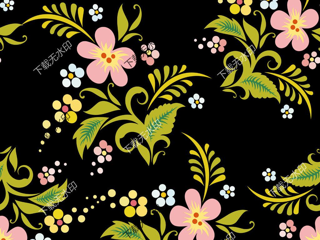 旗袍窗帘图案纺织印花面料真丝印花设计手绘地毯花地毯图案花纹数码印