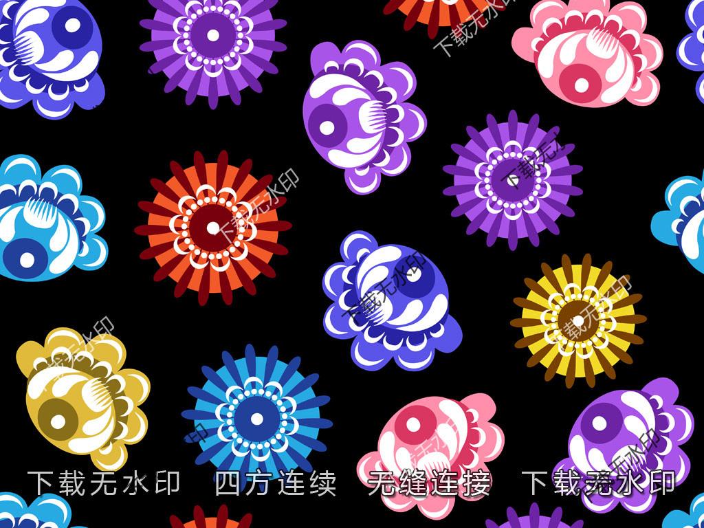 时尚时尚碎花图案几何图形数码印花传统花型