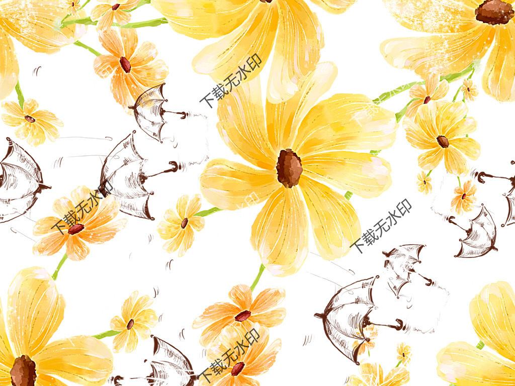 产品图案设计 服装/配饰印花图案 植物花卉图案 > 时尚手绘花纹图案