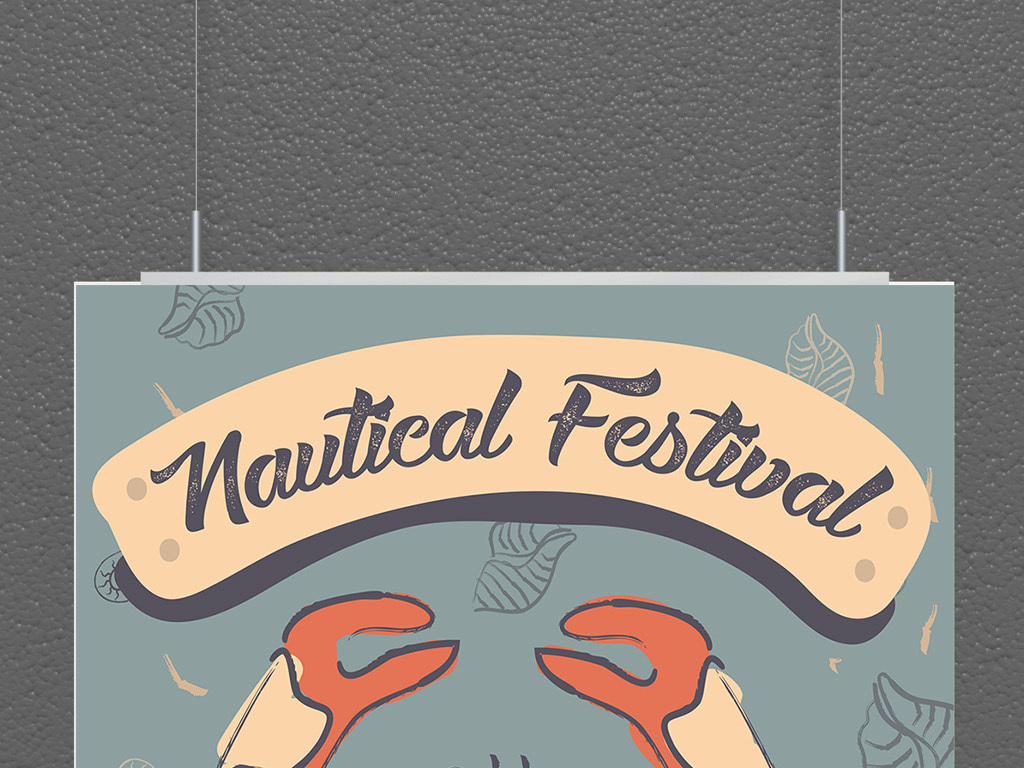 平面 广告设计 海报设计 国外创意海报 > 海鲜餐厅美食促销大闸蟹海报