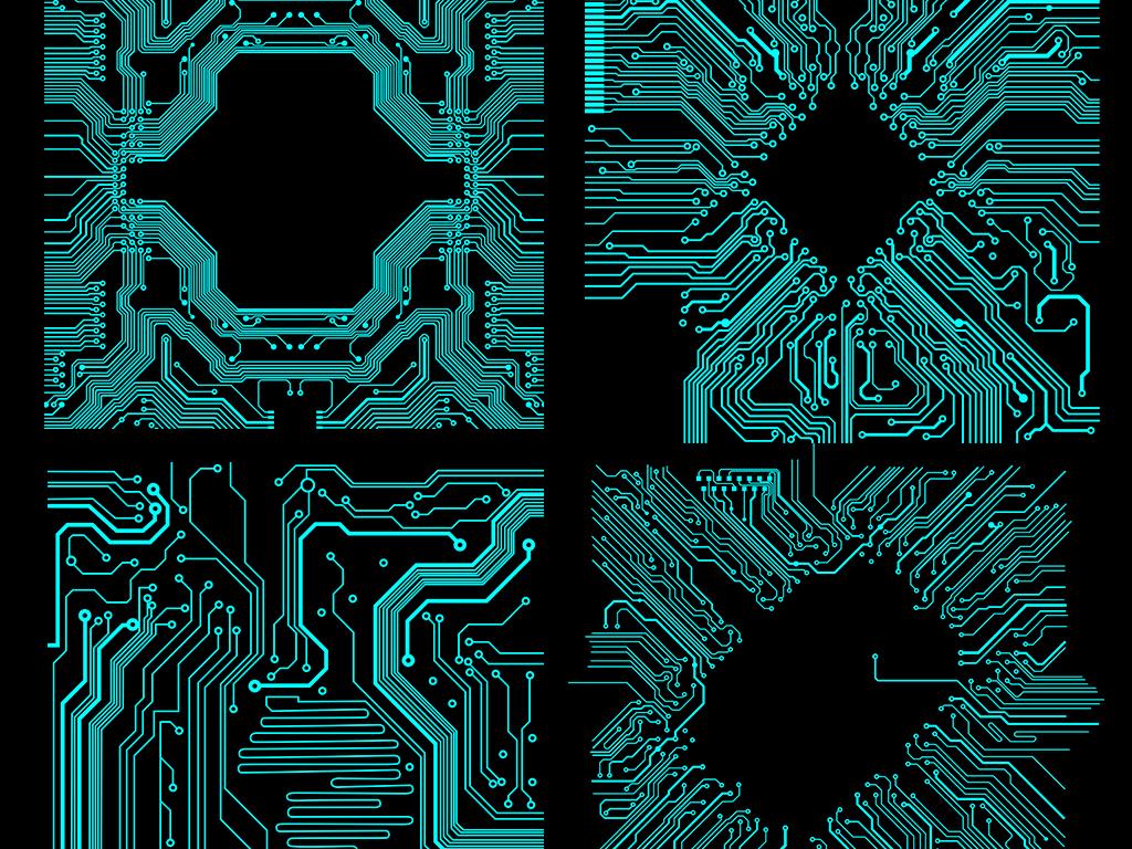 电路电子科技芯片线路png免扣图片素材
