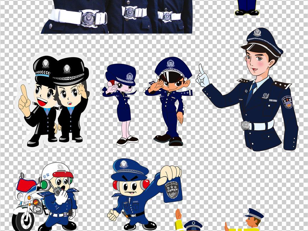 警徽卡通人物人物素材公安警察卡通素材人物素材卡通警察警察卡通警察