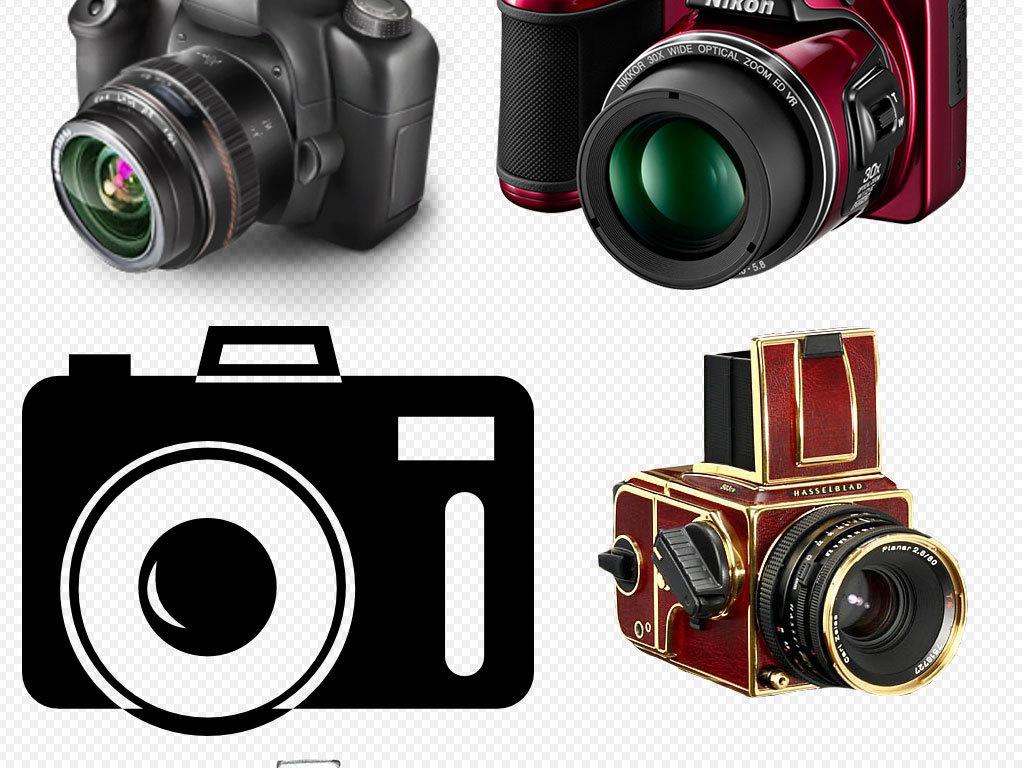 手绘相机图标标志单反数码相机尼康复古照相机高清佳能相机相机简笔画