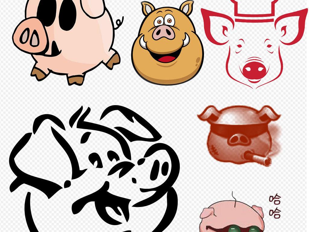 设计元素 自然素材 动物 > 非常可爱卡通萌萌哒小猪猪设计素材