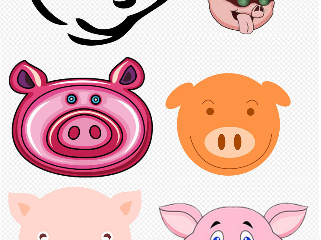 非常可爱卡通萌萌哒小猪猪设计素材(图片编号:)_动物