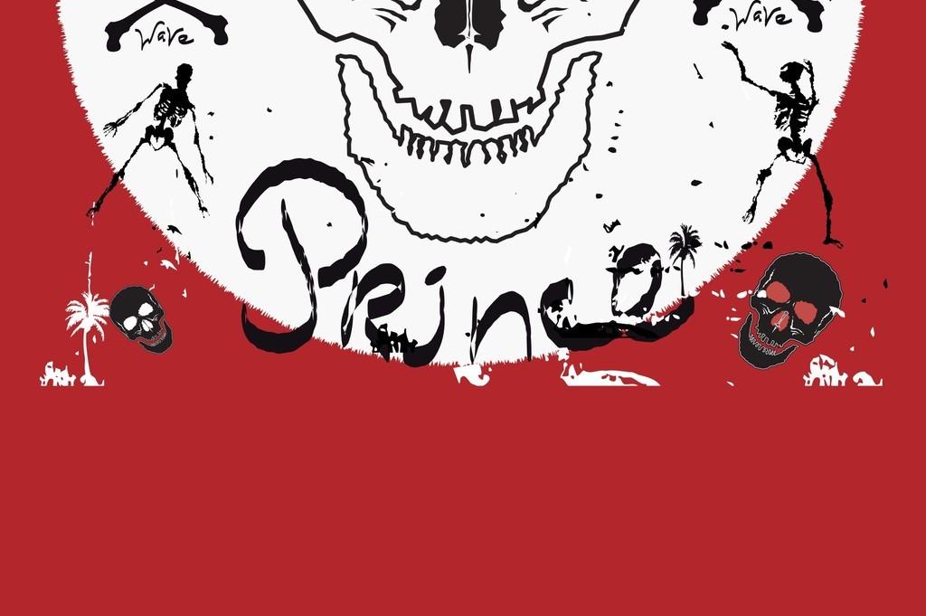 设计作品简介: 玫瑰棕榈树字母骷髅头潮牌t恤图案 矢量图, rgb格式