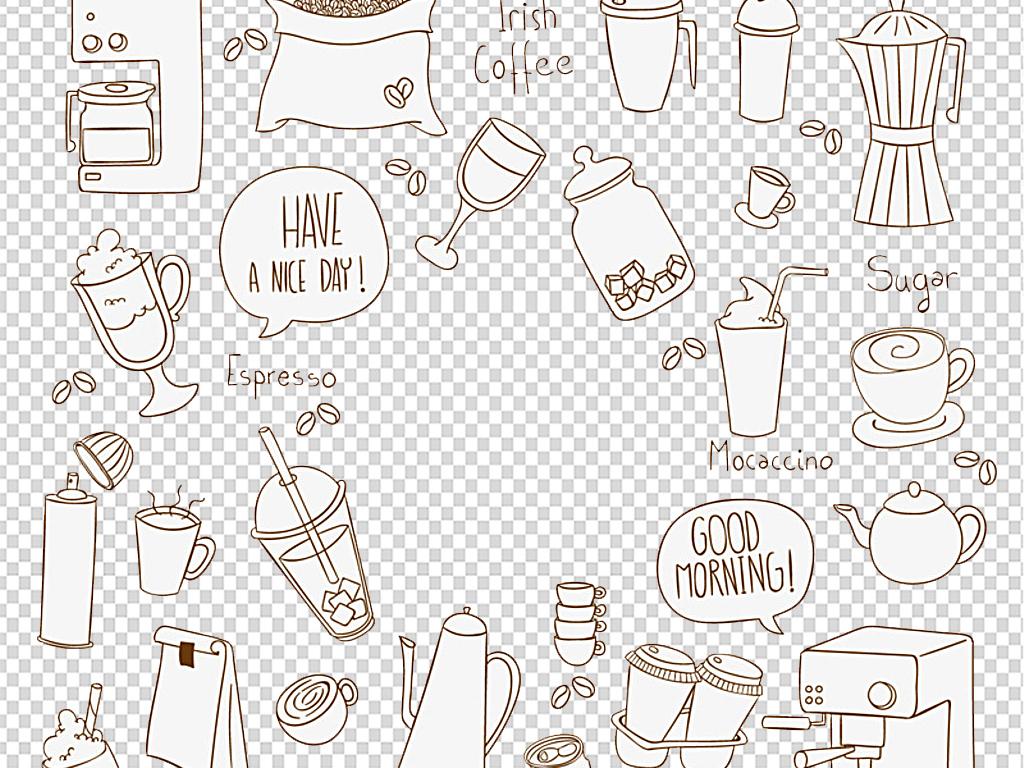 160款水彩手绘饮品饮料冷饮果汁素材
