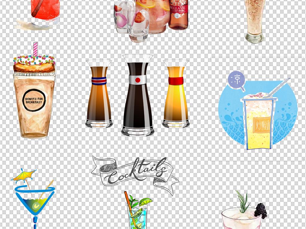 设计元素 其他 其他 > 160款水彩手绘饮品饮料冷饮果汁素材  版权图片