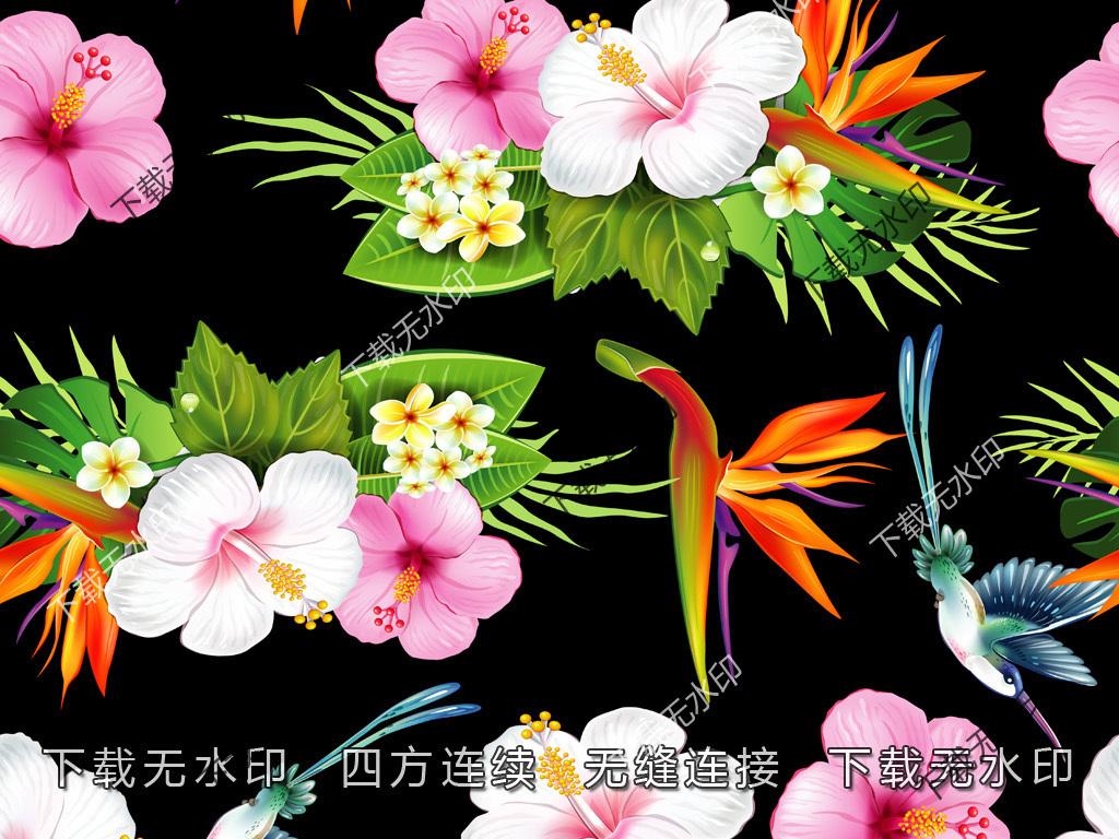 蝴蝶兰手绘印花边框花纹花边矢量图花纹矢量图欧式花纹花边矢量图花纹