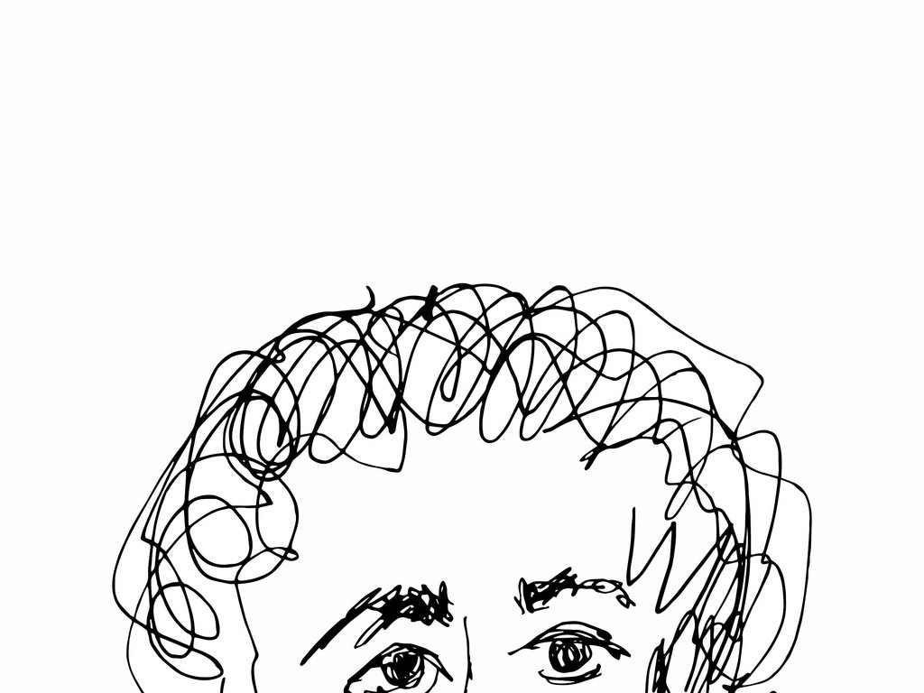 抽象人物插画图案手绘人物头像素材