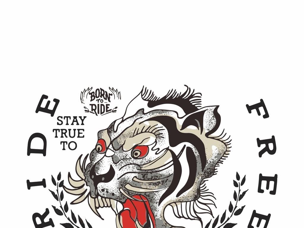 产品图案设计 t恤图案 动物图案 > 几何星星图形宗教骷髅头花卉叶子