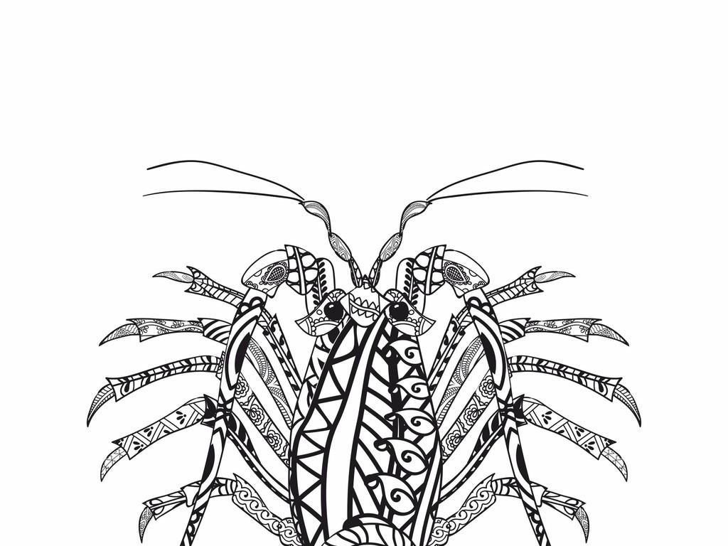 动物ai手绘创意恤印花卡通动物小动物海底动物花型野生动物动物剪影