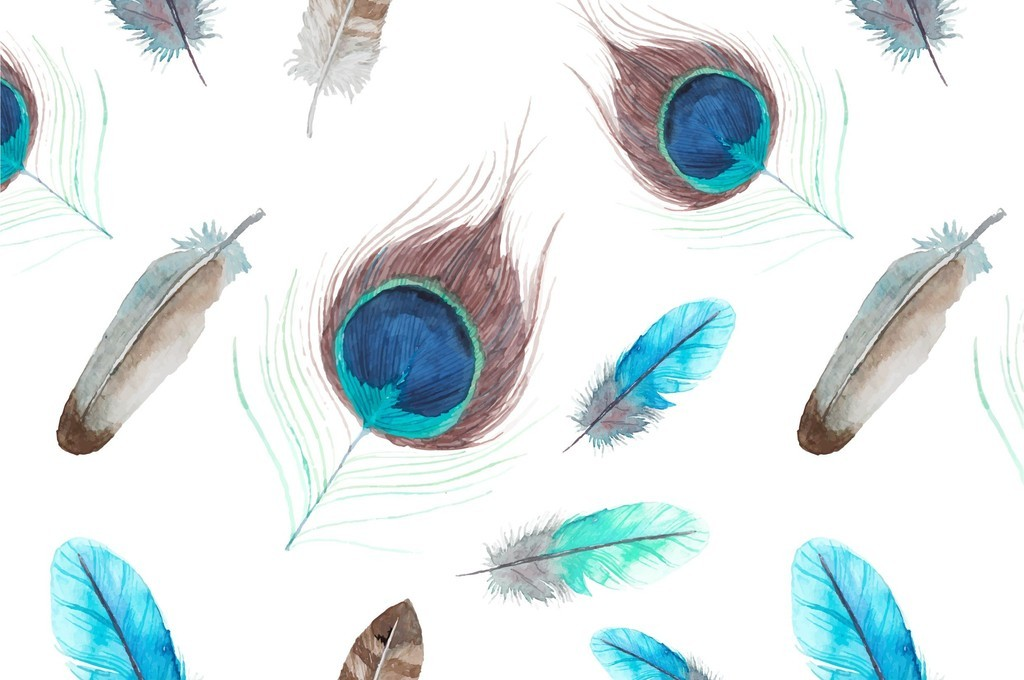 欧美艺术羽翼图案印花衬衫裙子羽毛印花设计图片_高清图片