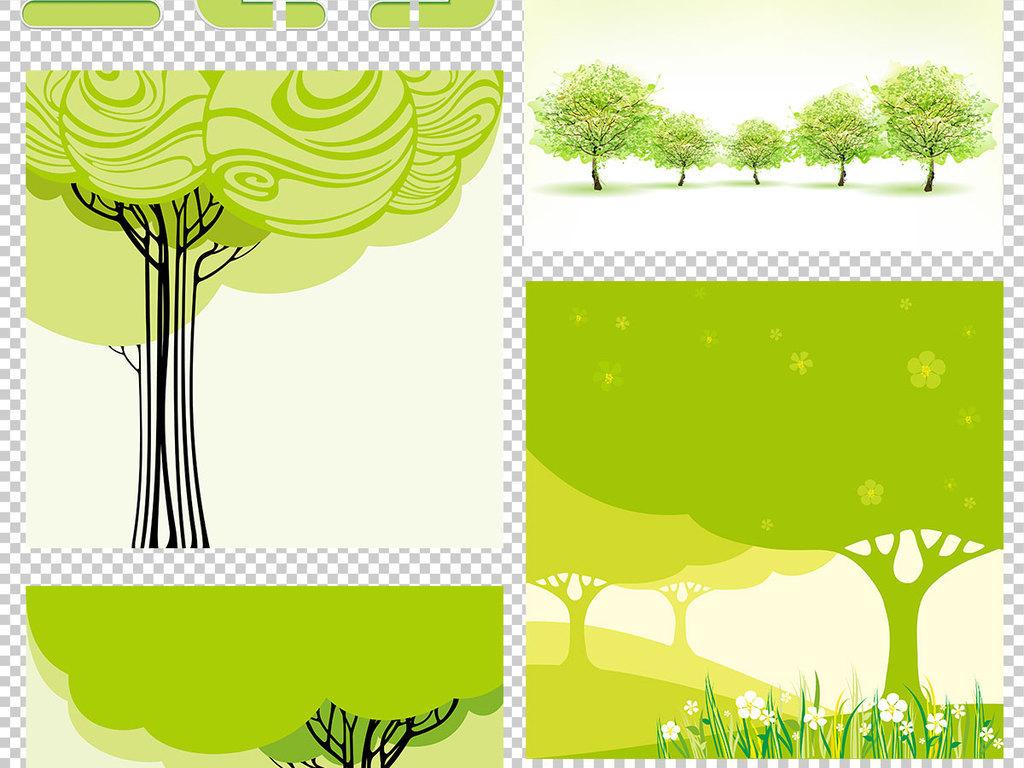 设计作品简介: 抽象卡通风格树木广告背景 位图, rgb格式高清大图