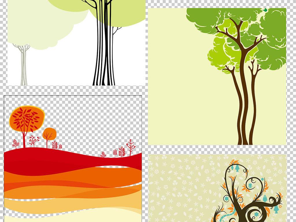树木背景广告卡通抽象漂亮草地分层素材绿草地素材草地ps素材草地素材