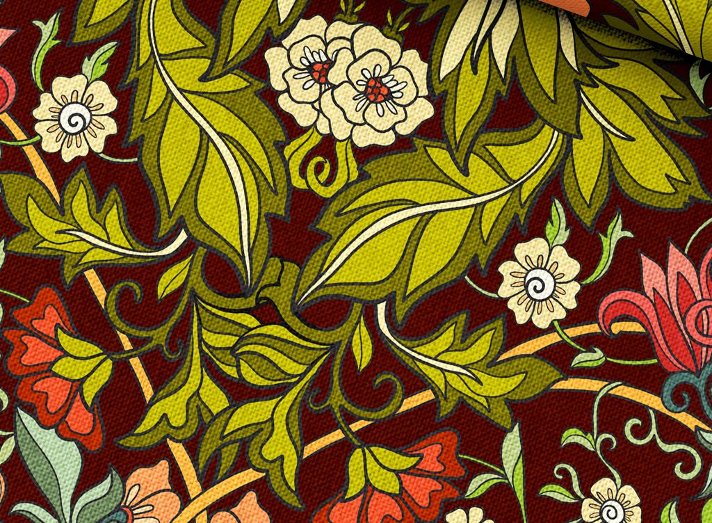 图案民俗风民族风格图案抽象几何花卉植物植物花卉植物背景花卉背景
