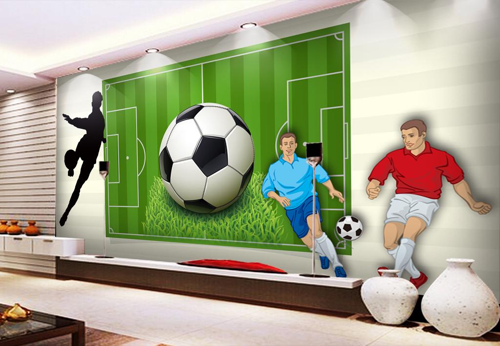 足球场世界杯工装背景墙