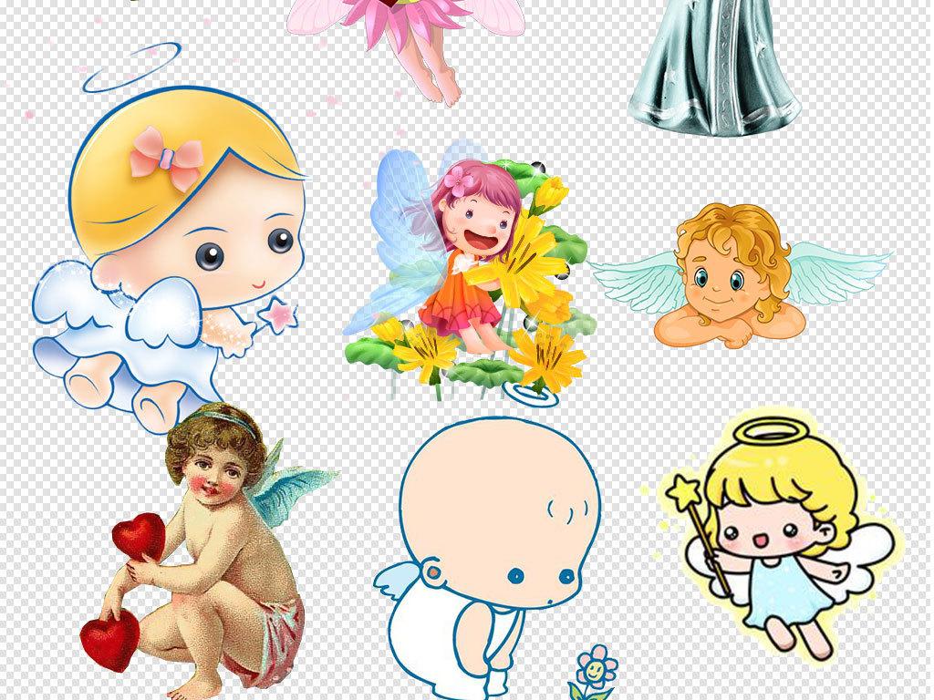 卡通儿童可爱天使翅膀背景素材下载