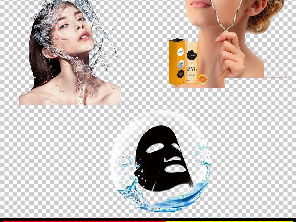蚕茧白色蚕丝面膜蓝色水面膜护肤品皮肤层psd肌肤结构图淘宝美容