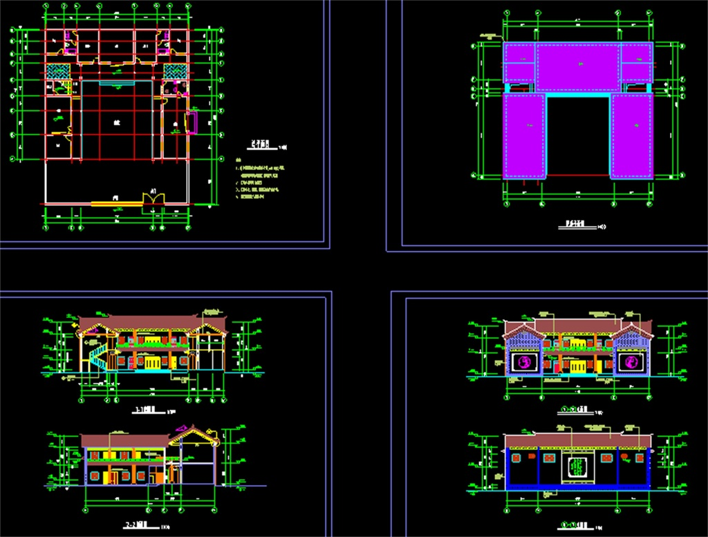 住宅楼cad建筑施工图