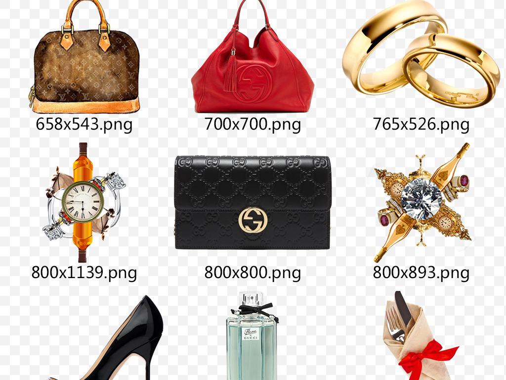 高端化妆品奢侈品包包香水logo鞋子素材