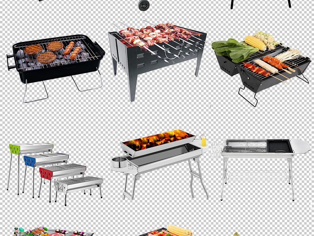 户外烧烤工具烧烤架免扣图片素材