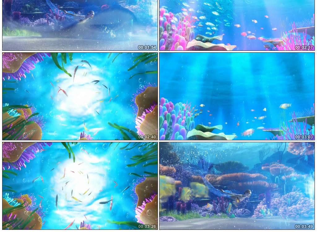 配乐成品美人鱼梦幻海底世界奇幻海洋图片