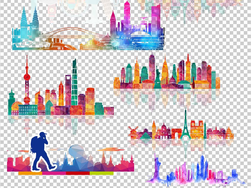 卡通建筑建筑设计手绘建筑欧美