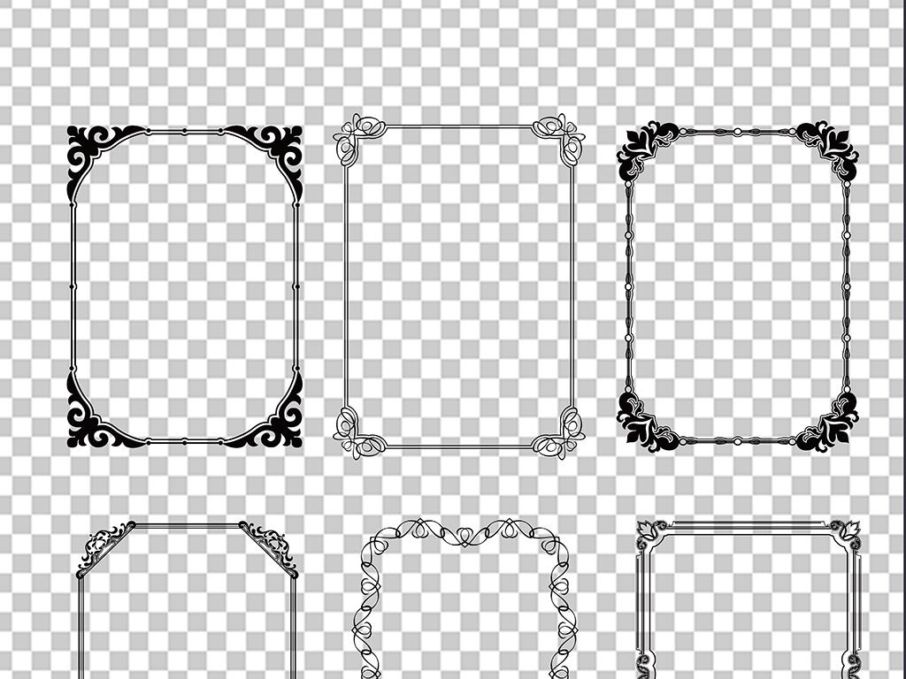 欧式花纹边框免扣png素材图片