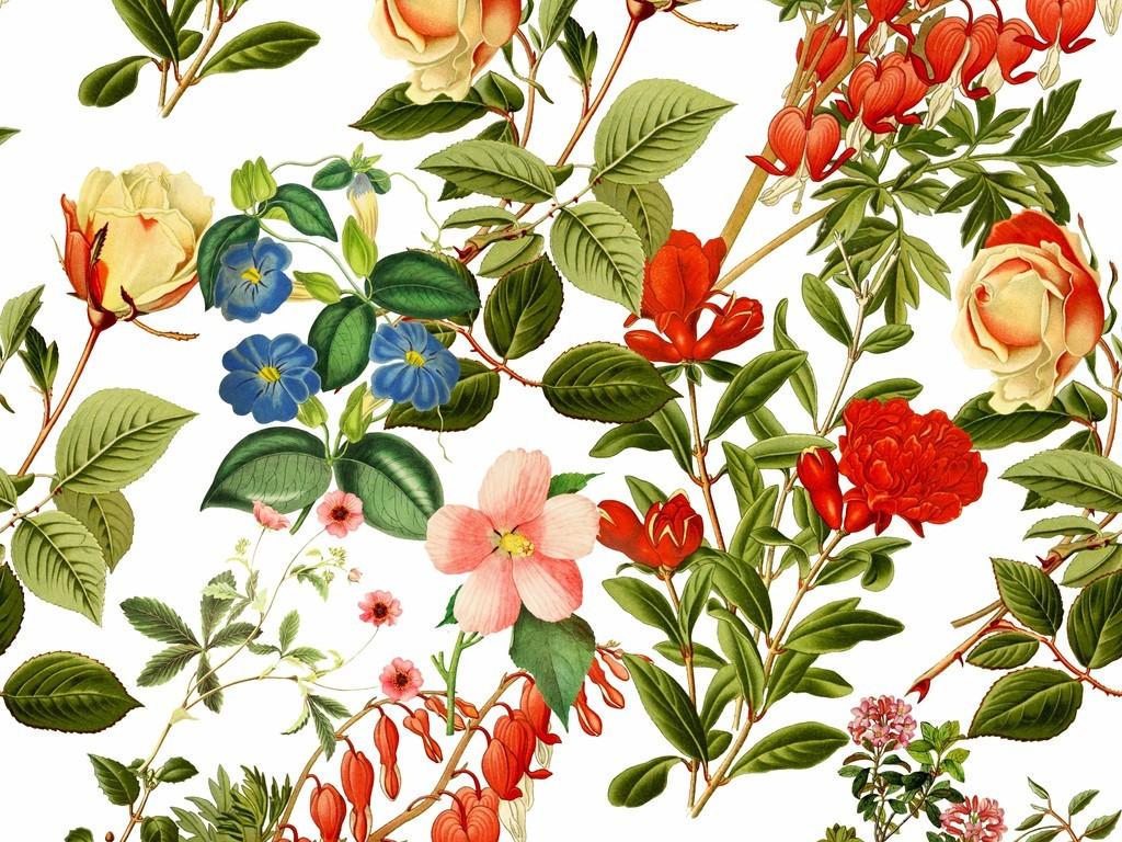 民族风手绘花卉图案