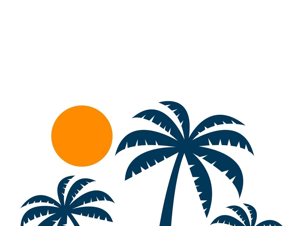 椰树手绘平面图例