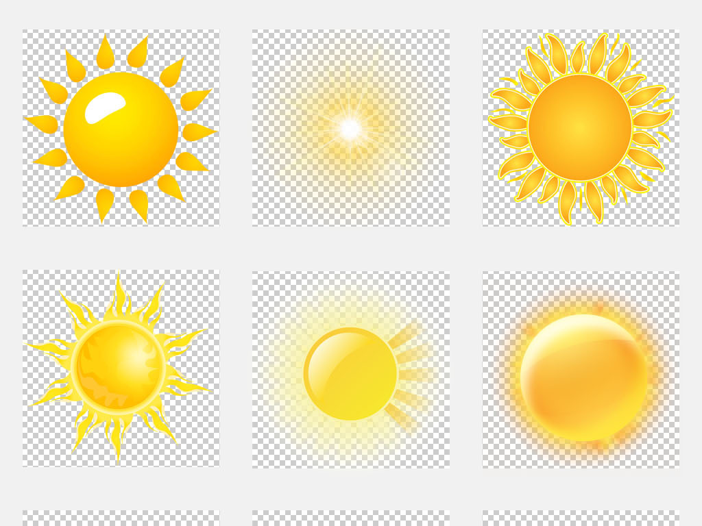 卡通可爱手绘太阳夏日海报展板设计素材