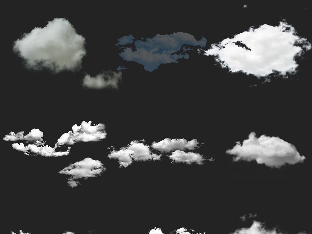 飘动可爱云朵云手绘