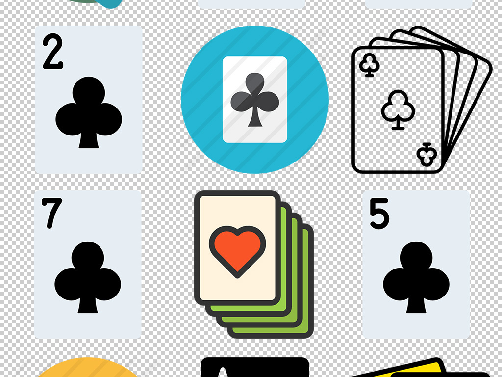 扑克素材                                  纸牌素材手绘