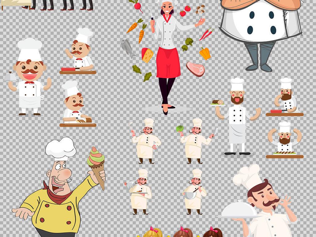 设计元素 标志丨符号 图标 > 手绘卡通风格厨师角色png免抠素材  手绘