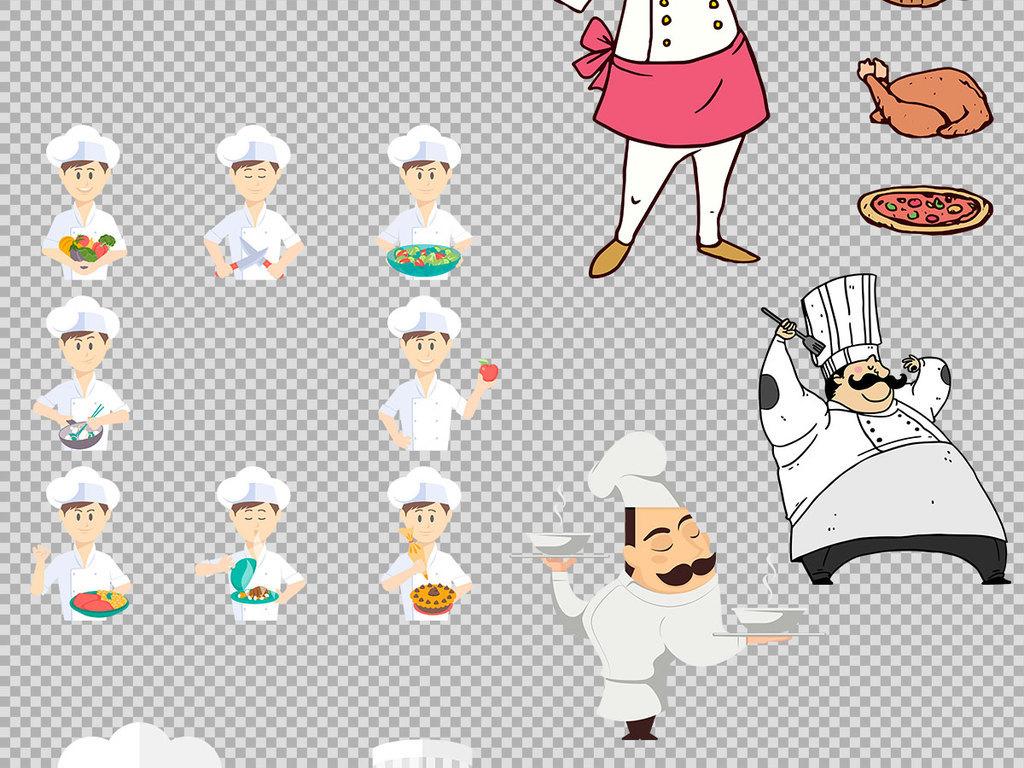 设计元素 标志丨符号 图标 > 手绘卡通风格厨师插图免抠png素材  版权
