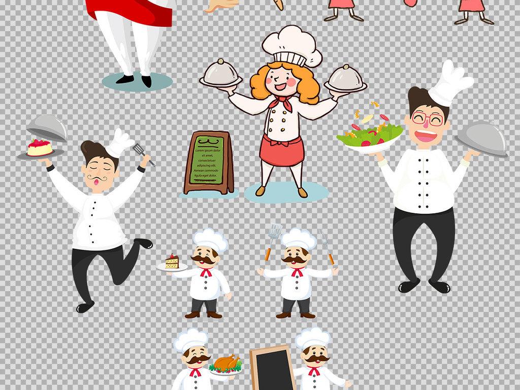 厨师职业卡通素材手绘插画卡通手绘手绘卡通卡通厨师免抠素材手绘素材