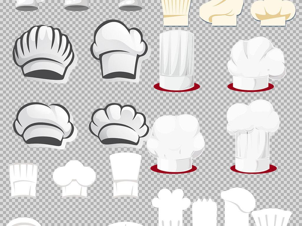 厨师卡通扁平风格厨师帽手绘厨师帽