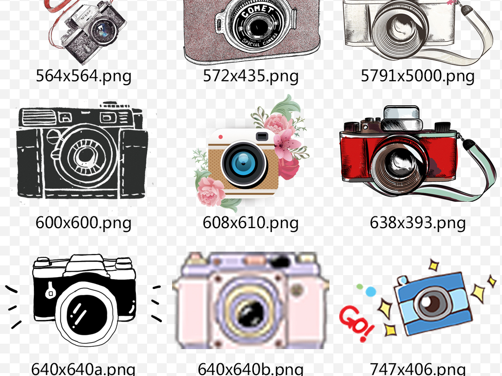 相机手绘相机创意卡通数码相机广告数码相机广告图相机广告图相机创意