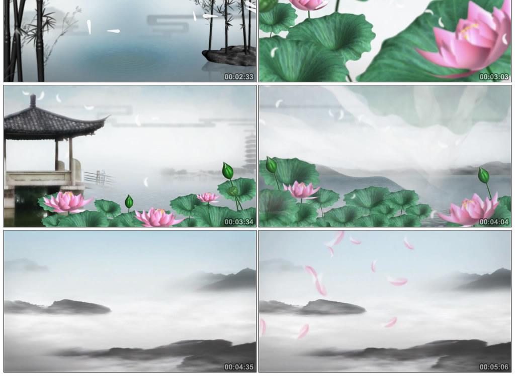 古筝伴奏云水禅心中国风山水画意境水墨舞蹈