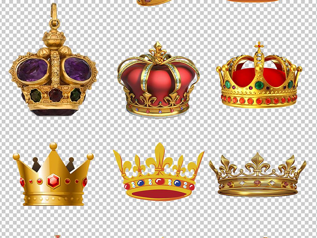 金色皇冠卡通皇冠素材